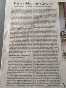 SZ Artikel Deutsche Buchhandlung Paris 20.6.2016